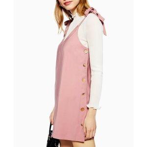 Topshop Pink Button Dress
